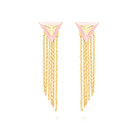 Golden tassels earings COCOMISS