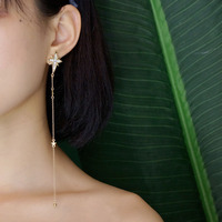 Octagonal star golden earings COCOMISS